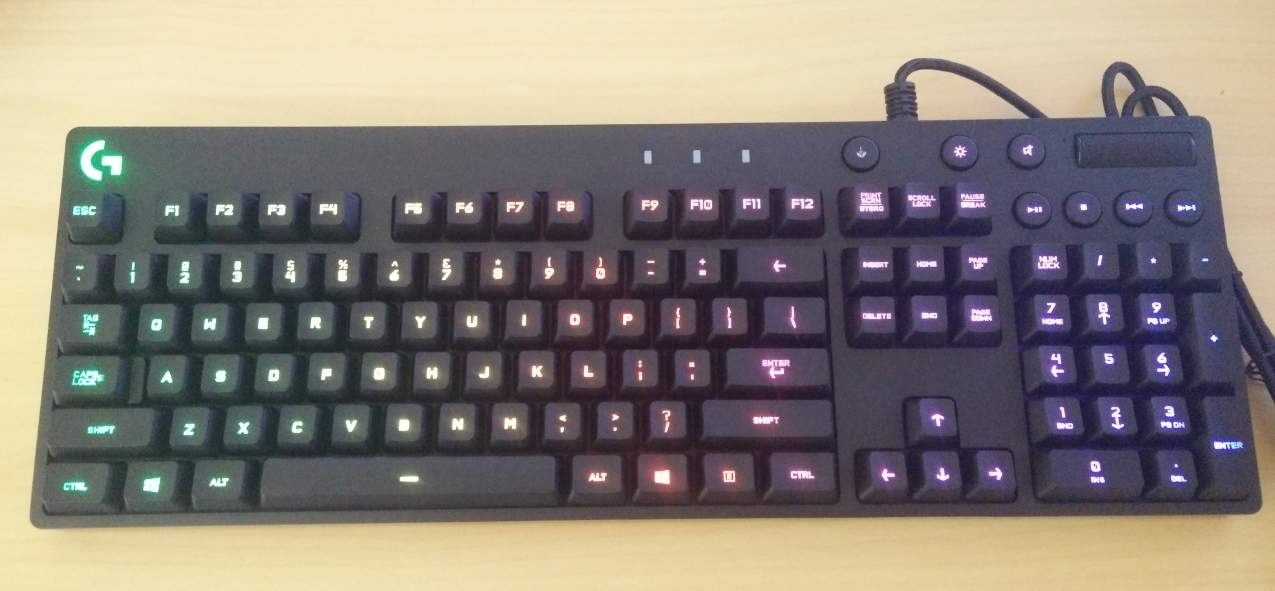 g810-light Logitech G810 Orion Spectrum RGB Mechanical Keyboard Review