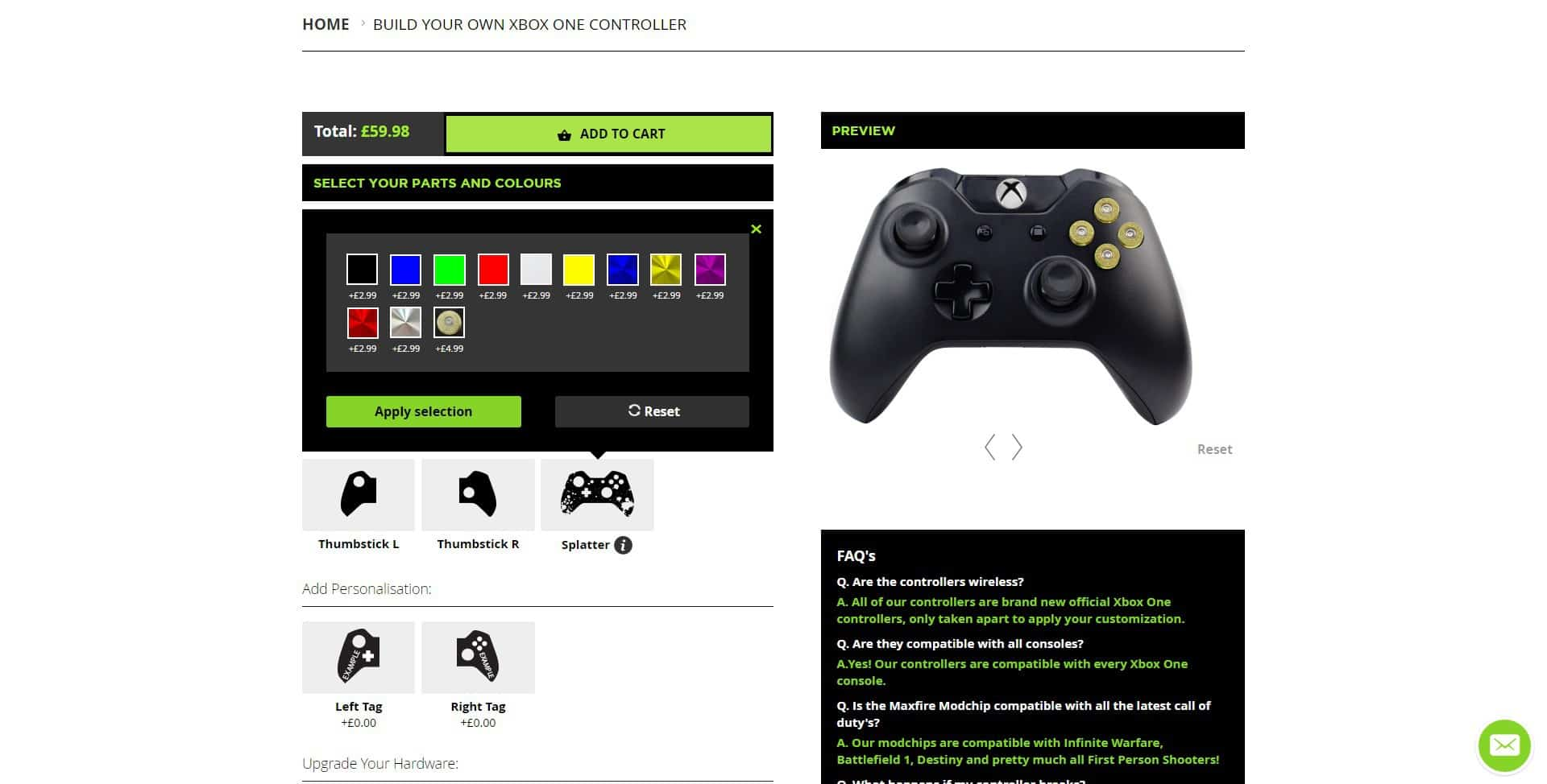 abxy-buttons-bullets Controller Modz Modded Xbox One Controller Review