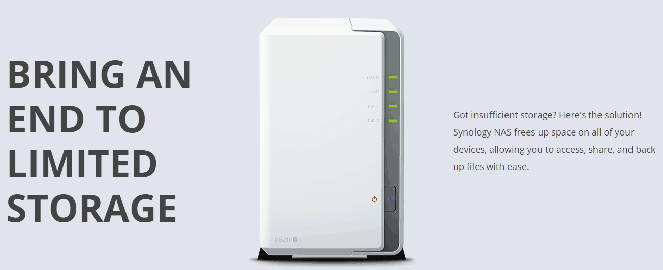 synology-ad Synology DS216J 2 Bay NAS Review - The Perfect Backup Solution