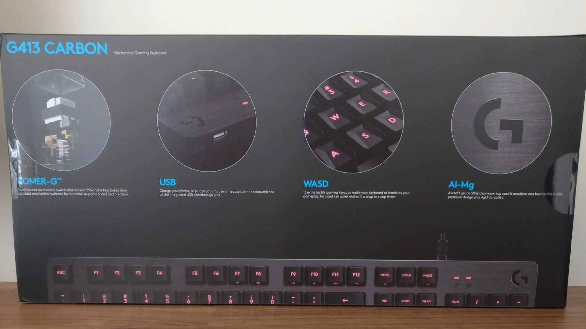 Logitech G413 Carbon Gaming Keyboard Review The Streaming Blog Mechanical Backlit Photos 03