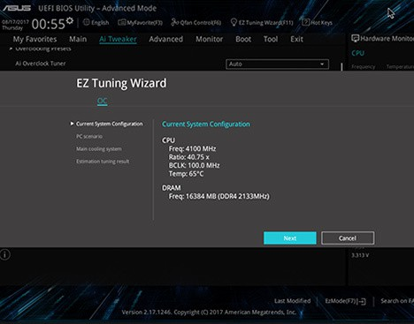 uefi-screen1 ASUS Prime Z370-A Motherboard Review