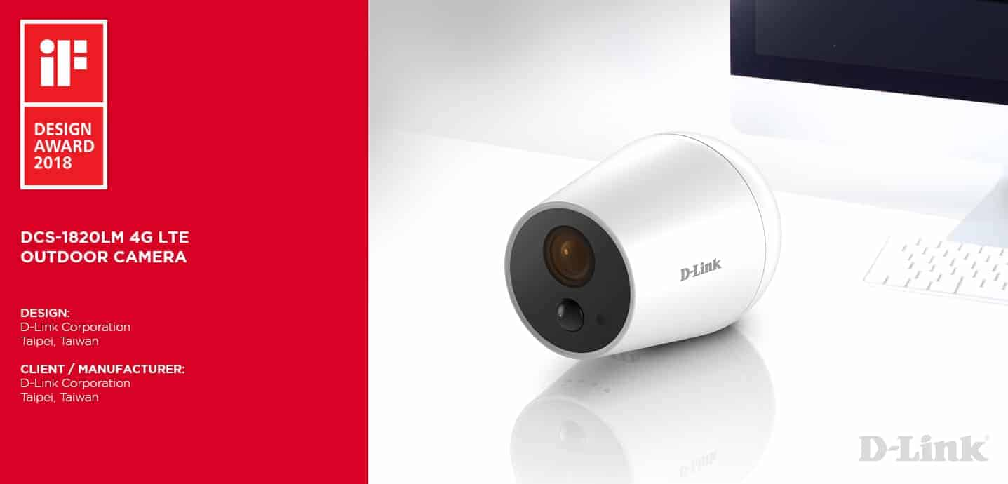 iF-design-dcs1820lm D-Link Wins Prestigious iF Design Award 2018