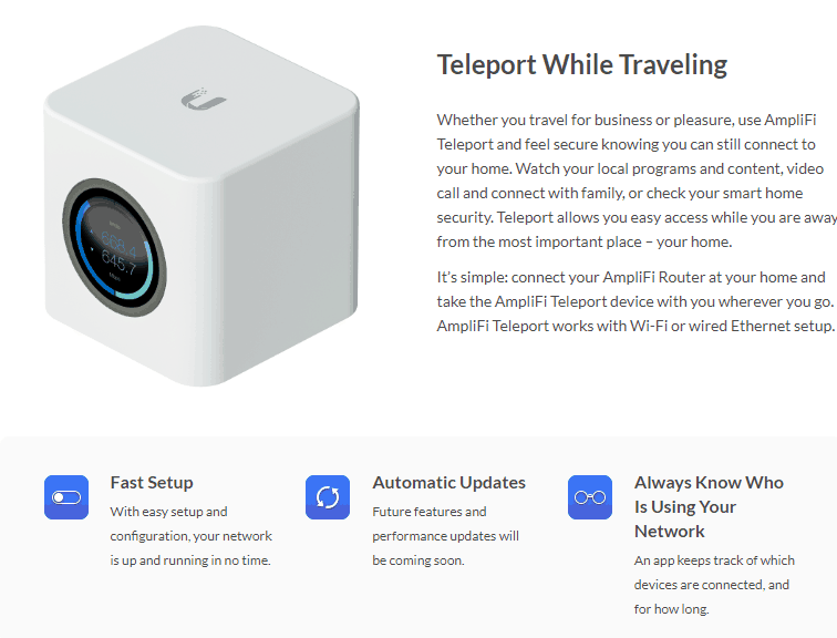 teleport2 Ubiquity Amplifi Teleport Review