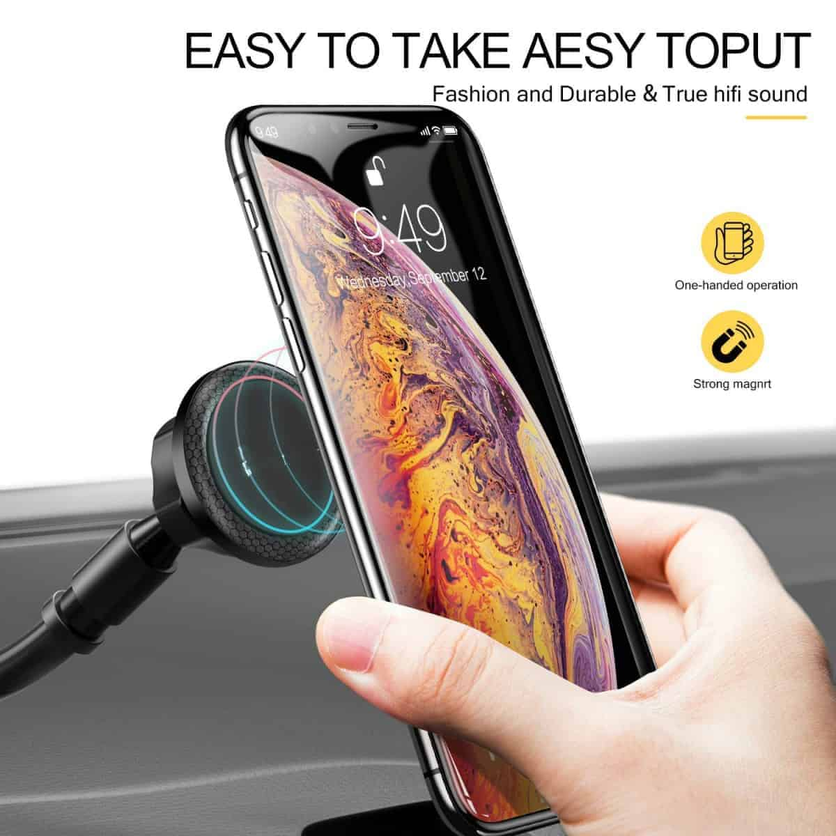 humixx-car4 Humix Car Phone Holder - Holds Fast and Strong