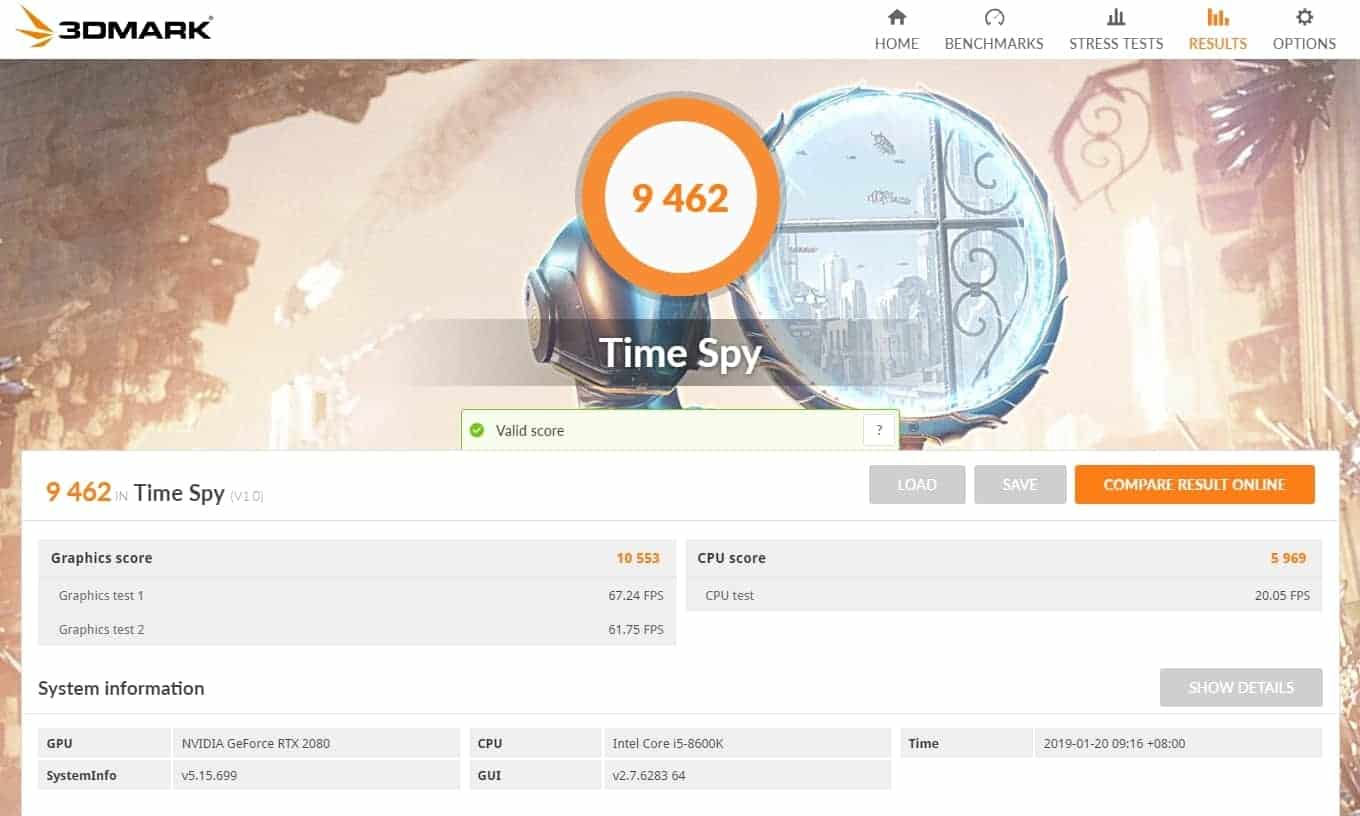 2080-3dmark-time-spy Gigabyte RTX 2080 and RTX 2080 Ti Review
