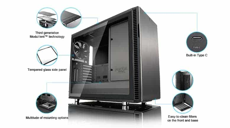 8030c453-a4bc-45b3-b06e-0d240509d0f8 Fractal Design Define R6 USB-C TG Review