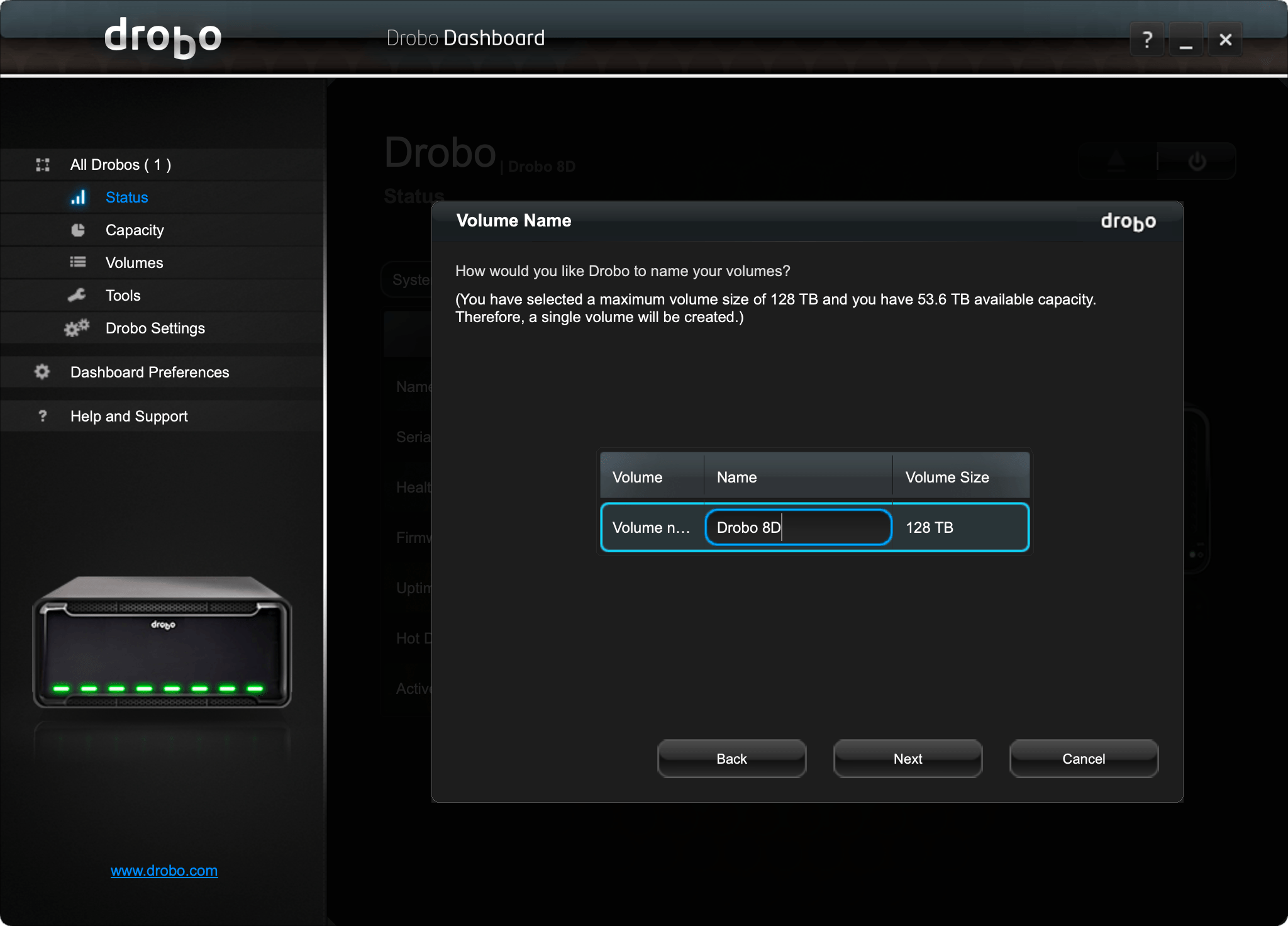 drobo-9d-screen Drobo 8D Review