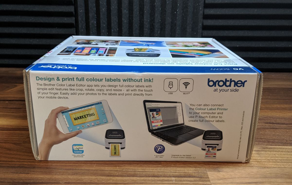 Brother Colour Label Printer VC-500W Review - The Streaming Blog